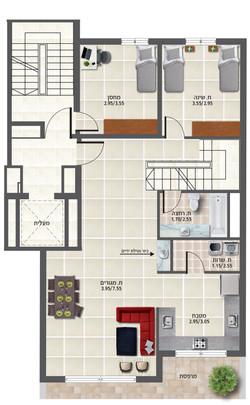 דירה 2 קומה א