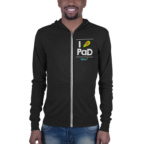 PaD - Front and Back - Unisex zip hoodie