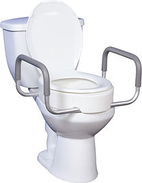 raised toilet seat with removable arms.j