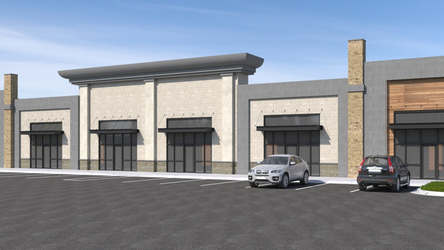 Retail Exterior Design Rendering