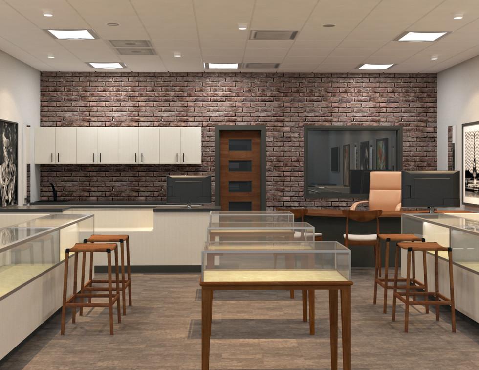 jewelry store interior rendering
