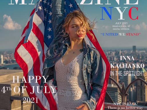 HAPPY 4th OF JULY                             INNA KACHANKO In The Spotlight