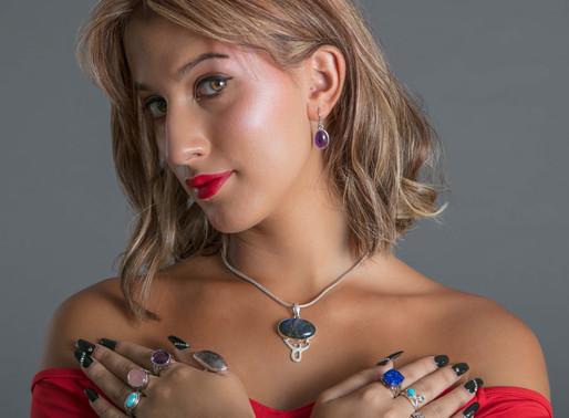 Meet the Model Nicolle Gongora ,      Wearing Exotic Stones Jewelry
