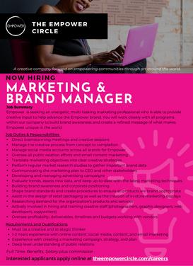 Marketing & Brand Manager