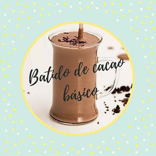 Batido de cacao básico