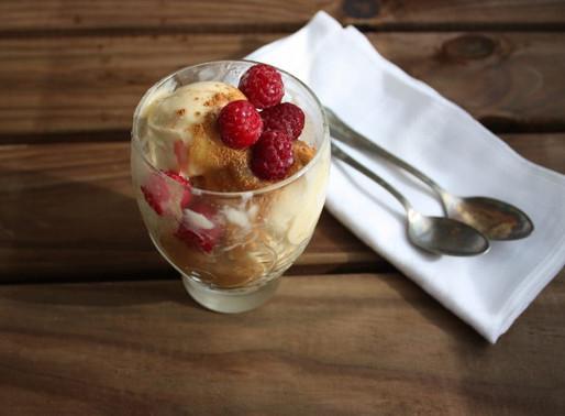 Receta de helado básico casero: un ingrediente, un minuto