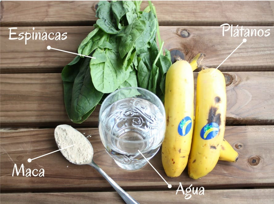 Ingredientes Batido verde Alkaline Love