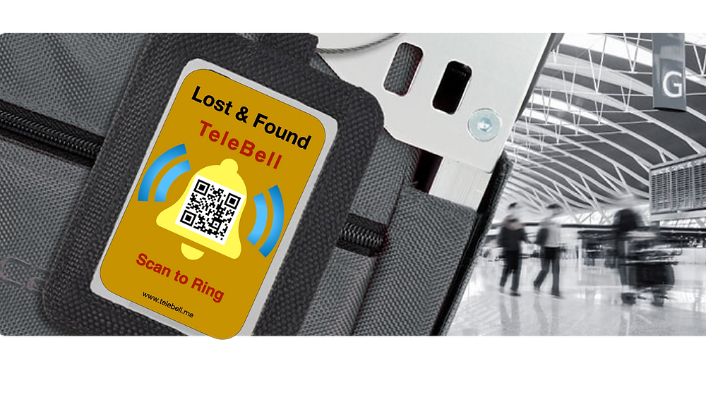 TeleBell QR Code Doorbell Lost & Found Tag