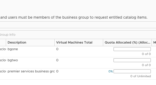 Stale Business Groups show up while using filters on Deployment tab