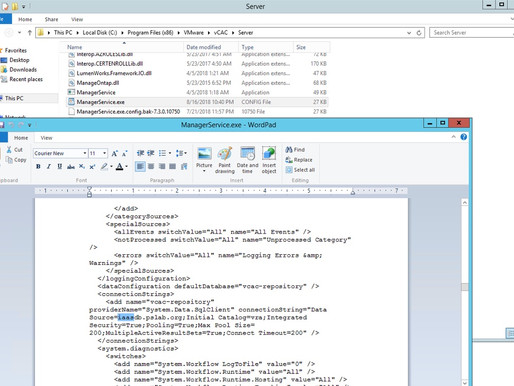 Migrating vRA IaaS database to a NEW SERVER