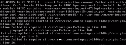 RHEL8 Guest Customization failures due to missing Perl module