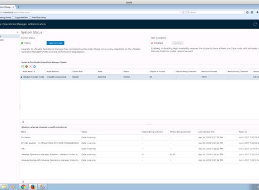 Upgrade vROps 6.6.1 to 6.7 - Runbook