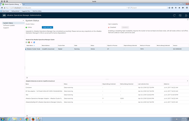 Upgrading to VMware vRealize Operations Manager 6 7