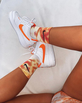 Tie dye socks are so trendy!