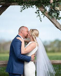 farm wedding couple