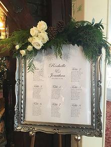 Winter Wonderland Wedding Seating Chart