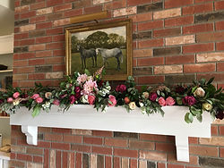 Horse Country Home Wedding - Ceremony at the Mantle