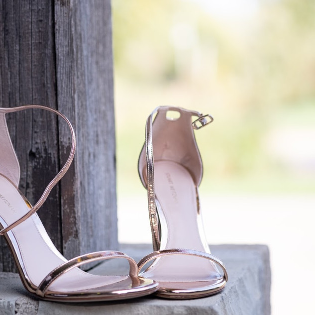Rose Gold Bridal Shoes - Swoon!