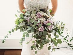 Stunning bridal bouquet in amethyst