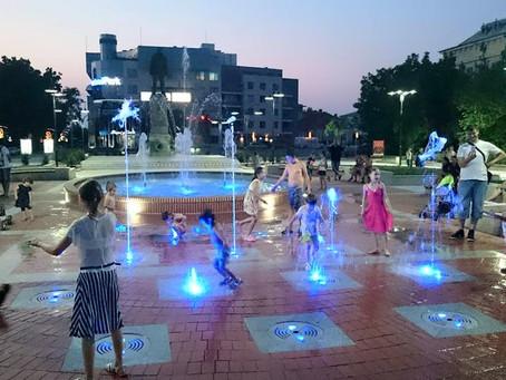 В Силистра водата затанцува в новите фонтани.