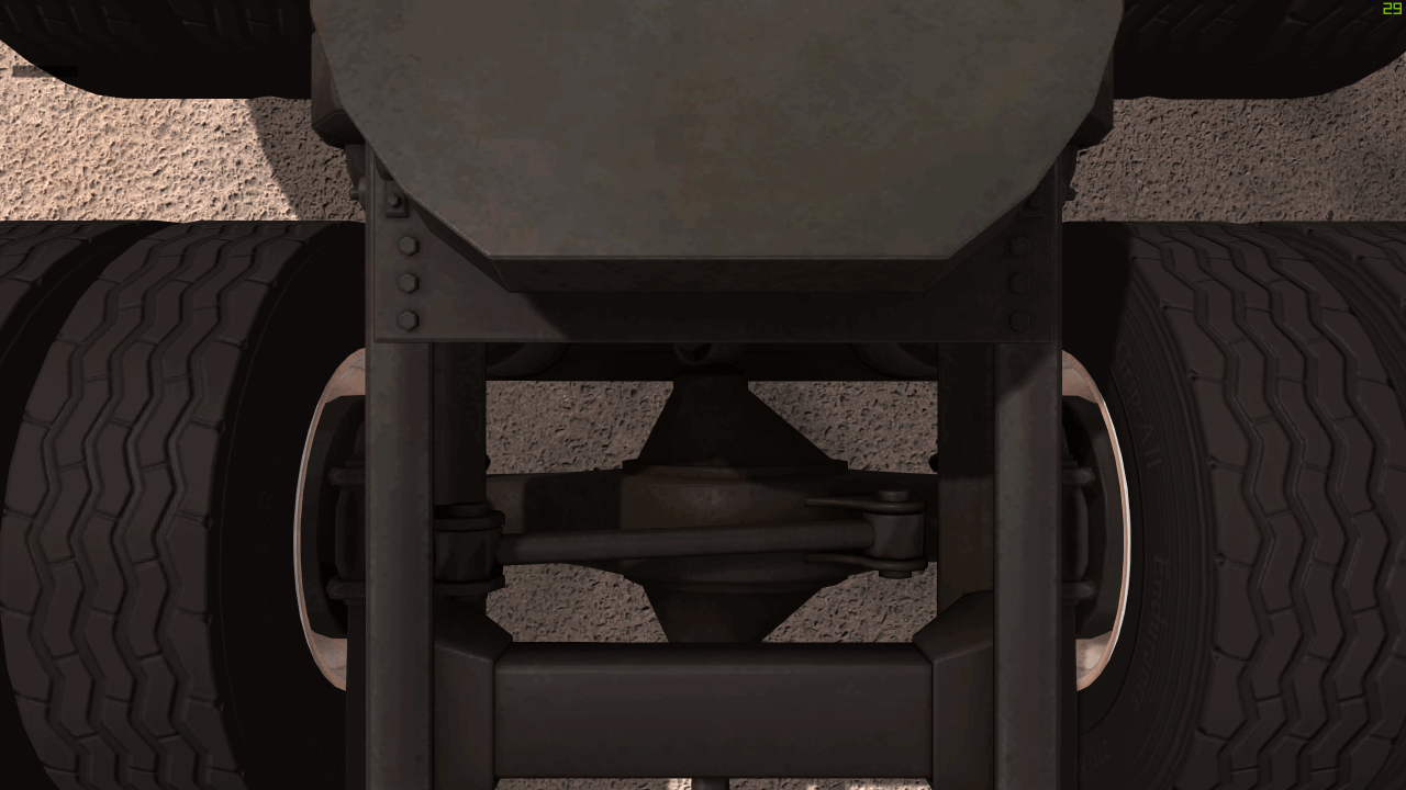 Connection 3rd & 4th axle