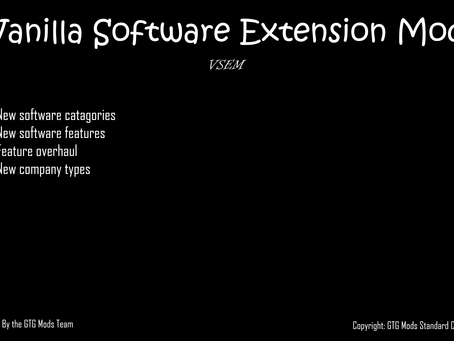 Mod Released: Vanilla Software Extension Mod