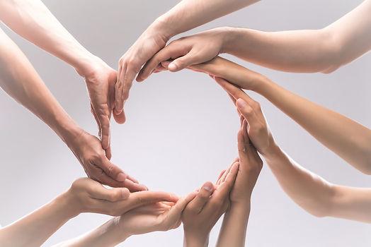 Bindung Vernetzung Liebe Austausch Kreis Hände