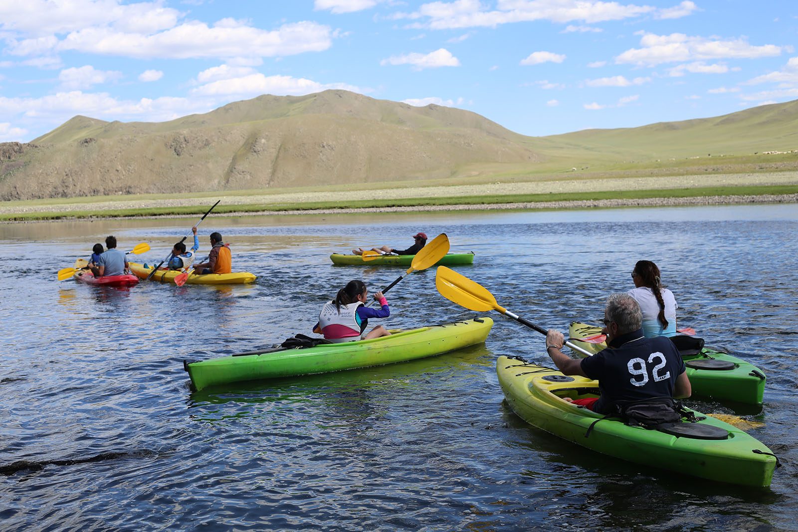 Kayaking in Mongolia