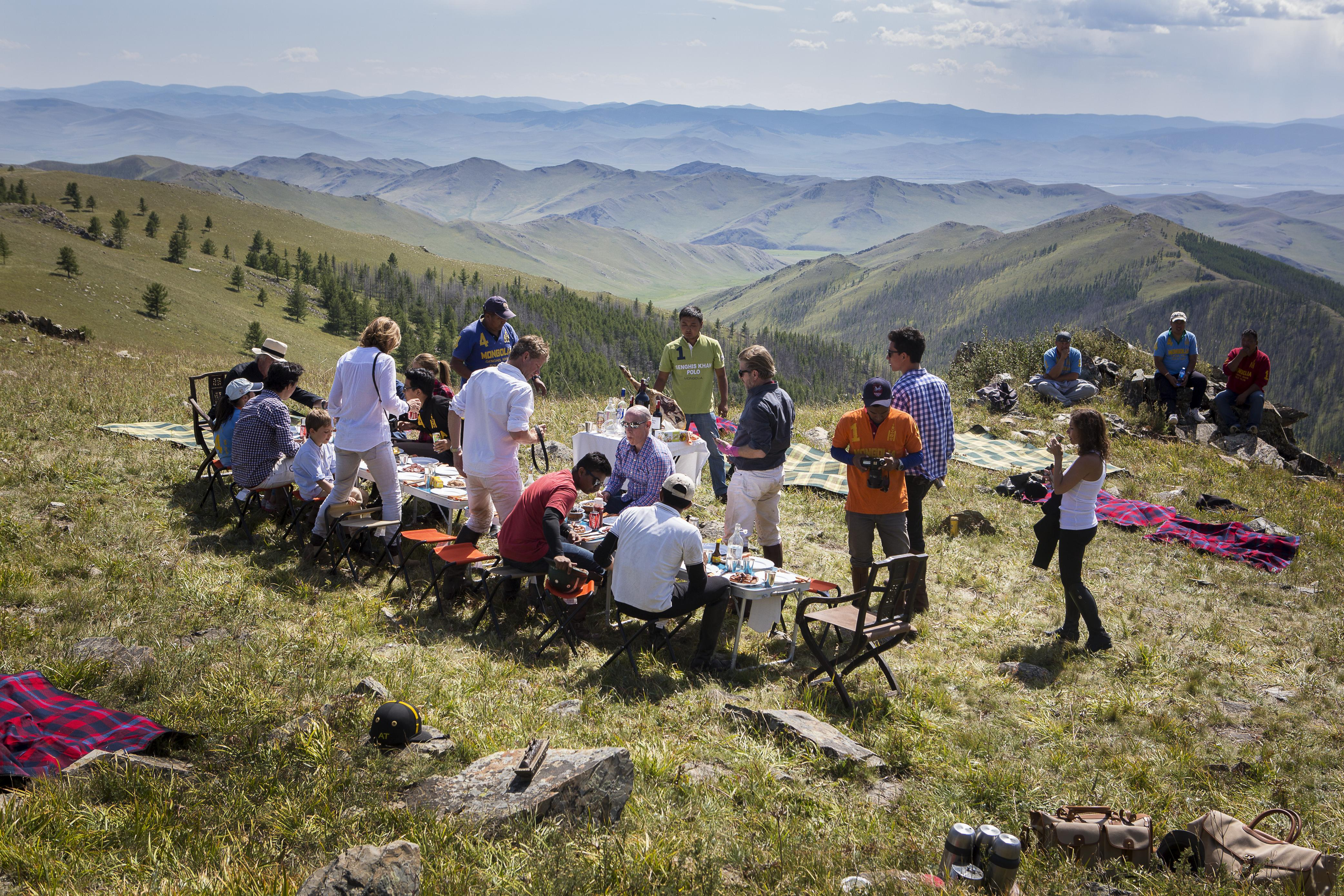 Picnics in the Mountains on Mongolia