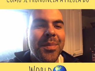 """Como se pronuncia a palavra """"world"""" em Inglês?"""