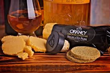 ORKNEY SMOKED CHEDDAR WITH HIGHLAND PARK WHISKY 150g