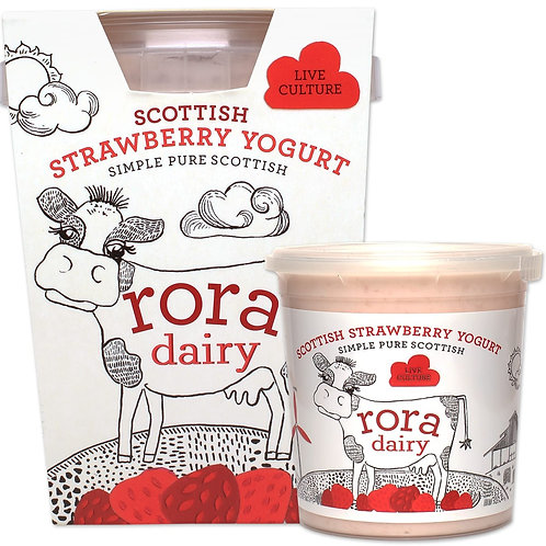 RORA DAIRY STRAWBERRY YOGURT 490g