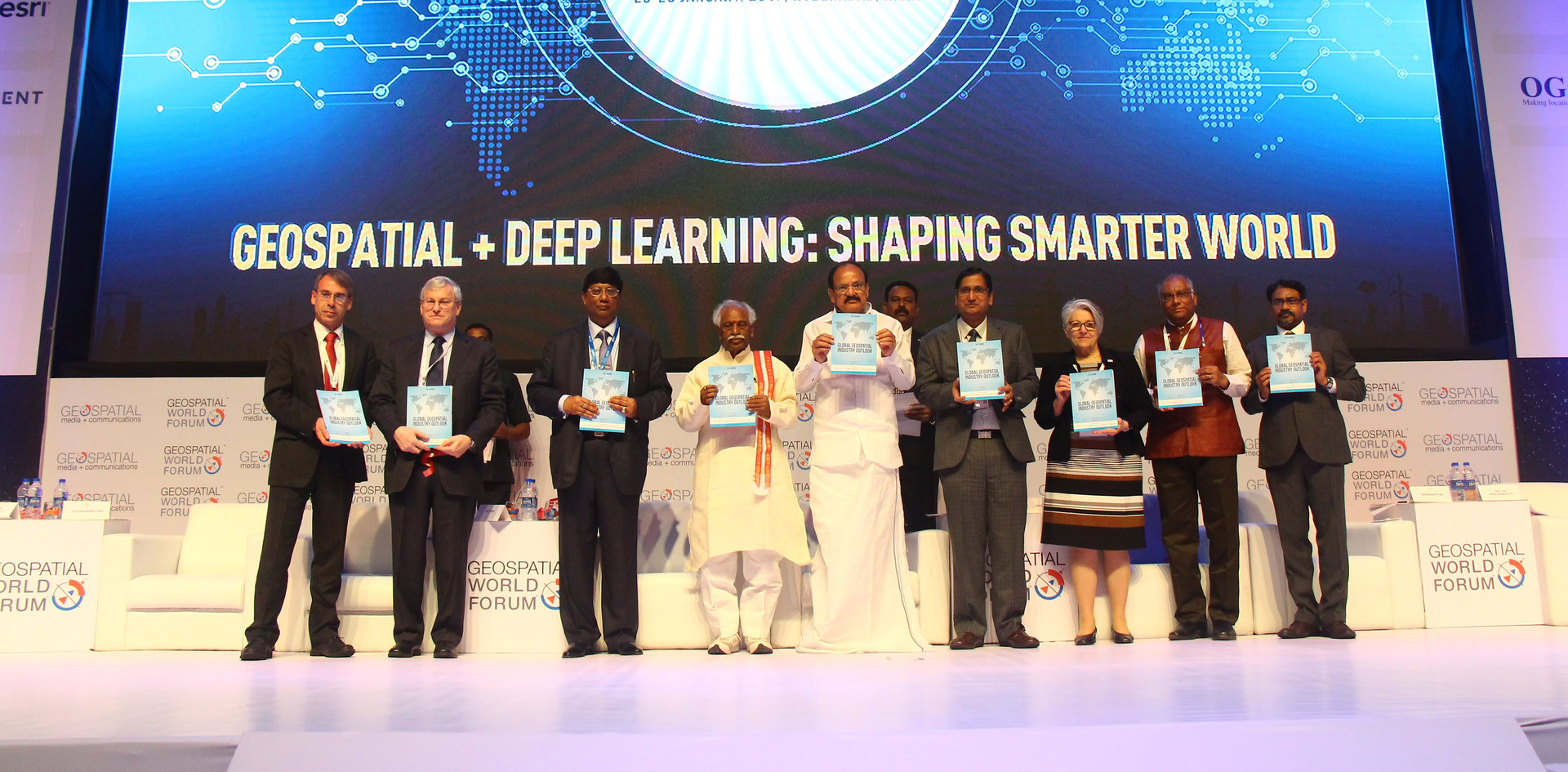 Releasing the Global Geospatial Industry Outlook Report at GWF 2017