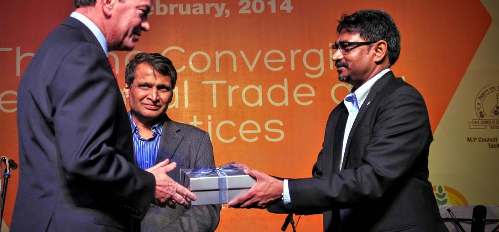 With Suresh Prabhu