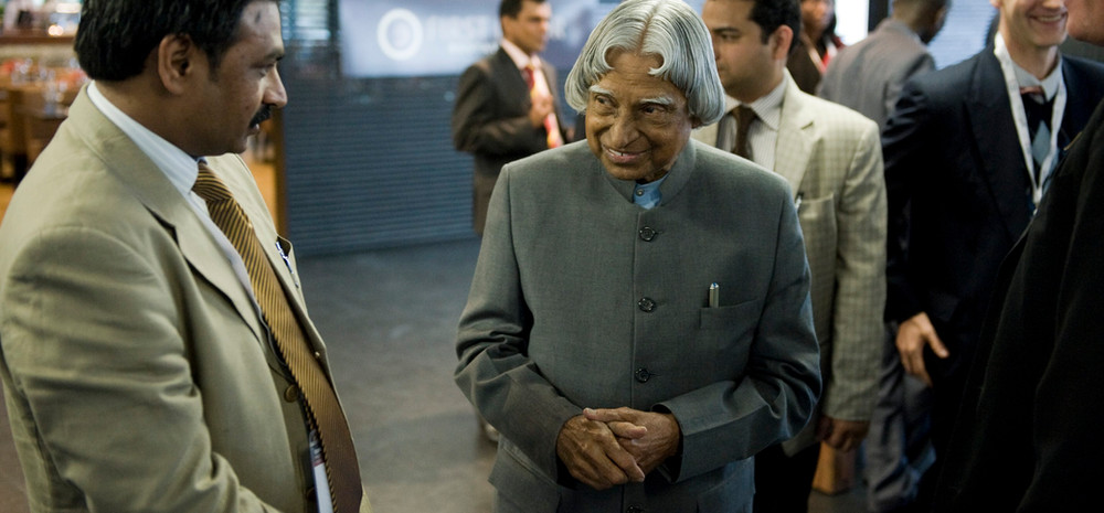 With a truly inspirational leader - Dr. Kalam