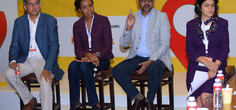 At a panel discussion at Location World 2018, Hyderabad