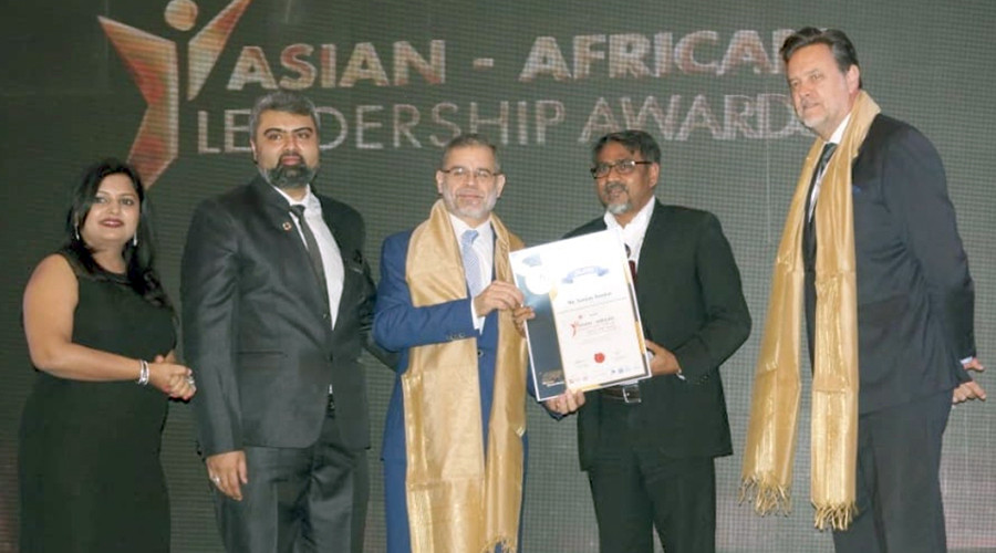 "Sanjay Kumar, CEO of Geospatial Media and Communications, was conferred with ""Leadership Award for promoting advancement in Information Technology"" at ASIAN-AFRICAN LEADERSHIP FORUM 2019."