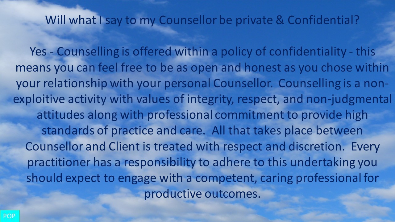 Private & Confidential Counelling