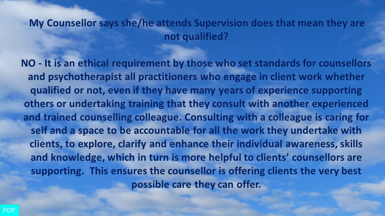 Counselling Supervison  Doncaster