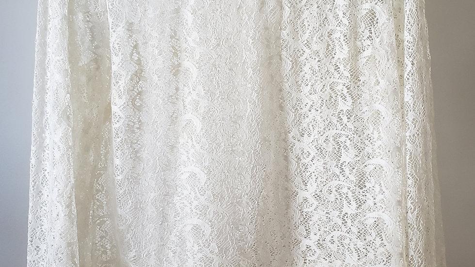 Blusa de renda off white (R019)