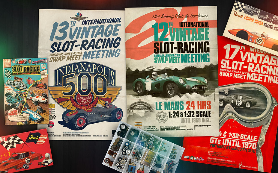 Bordeaux International Vintage Slot-Racing Meetings posters designs and art direction since 2007