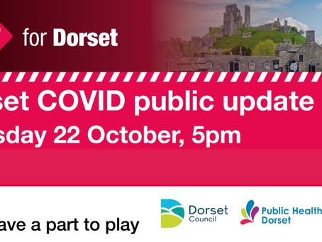 Live Dorset COVID public briefing tonight