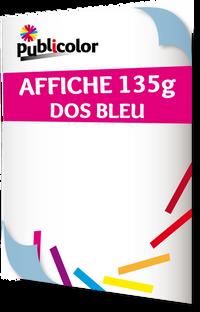 Impression sur affiche dos bleu - Publicolor – Ses micro-perforations lui permettent de diminuer la prise au vent tout en laissant passer la lumière. Elle est classée au feu M1.