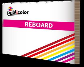 Impression sur Reboard – Publicolor –  Créations PLV, présentoirs, fabrication de stands...