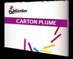 Impression sur carton plume – Publicolor –  Plaque légère en mousse de polystyrène