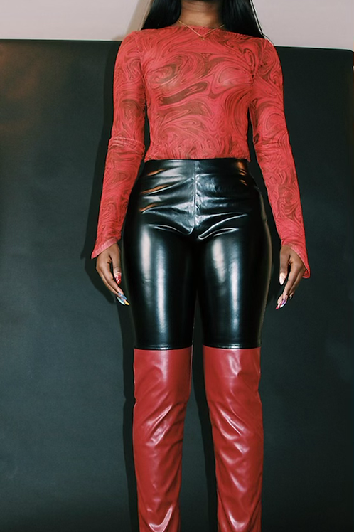 Anais leather pants