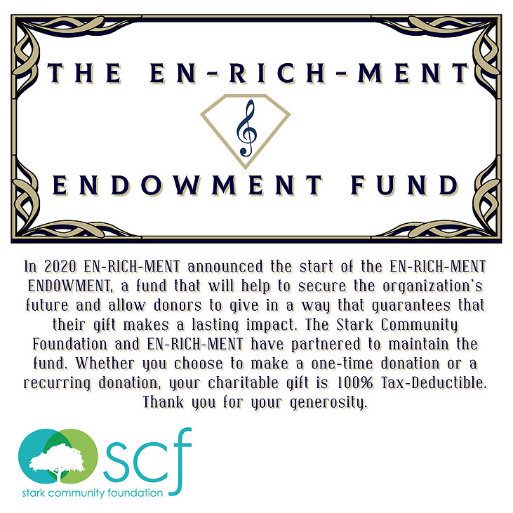 EN-RICH-MENT Endowment Fund. Your charitable gift is 100% tax-deductible. Thank you.