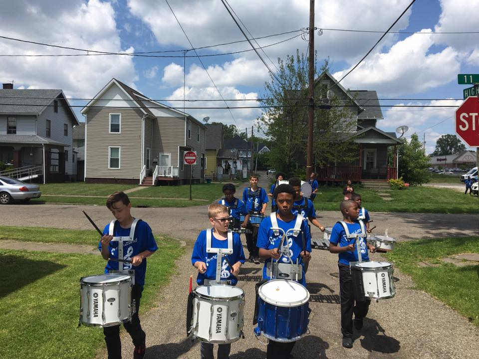 drumline in neighborhood 5-17
