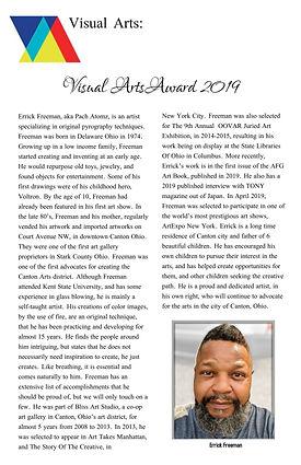 Visual Arts Award 2019