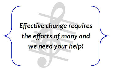 Effective change requires the efforts of many and we need your help!